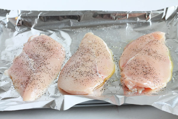 baking chicken in foil to use in dinner recipes