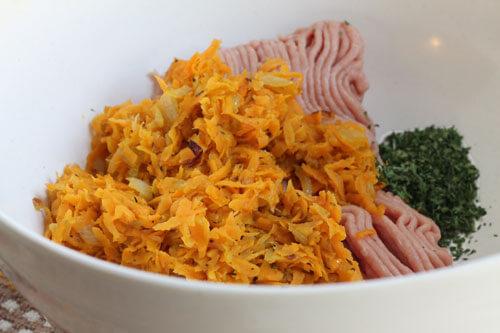 turkey sweet potato meatloaf in a bowl