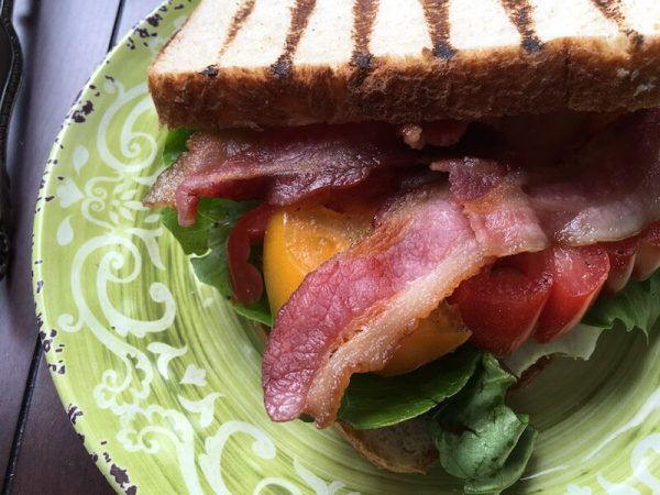 Bacon Lettuce and Tomato  with Creamy Avocado Spread