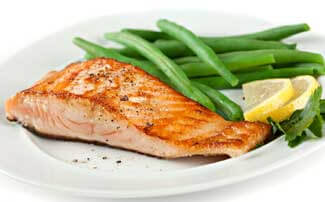 healthy family food salmon