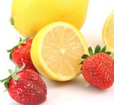 add lemon and strawberry to your water