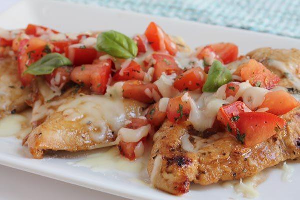 Grilled or Baked Bruschetta Chicken