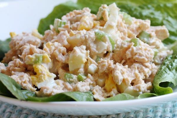Salmon Salad with Mayo