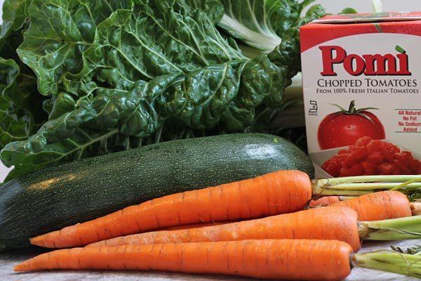 Ingredients for Garden Vegetable Minestrone Soup