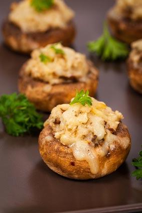 Stuffed Mushrooms with Crabmeat
