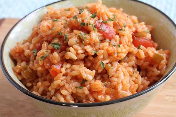 Spanish Rice with Salsa