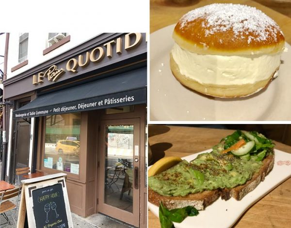 Le Pain Quotidien, Avocado Toast and French Cream Donut