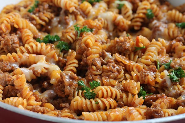 Manwich Pasta made in One Pot