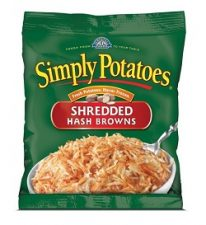 Shredded hash brown potatoes