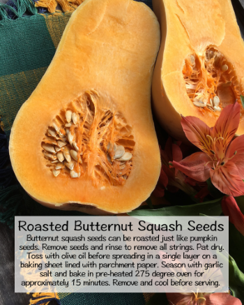 Roasted Butternut Squash Seeds